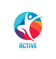 active - concept business logo template vector image vector image