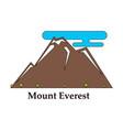 alps mountain landscape at europe switzerland vector image