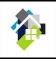 architecture home design logo symbol graphic vector image vector image