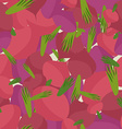 Background of Burgundy beets seamless pattern of vector image