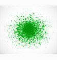 big bright green grunge splash on white background vector image vector image