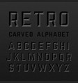 black retro style carved alphabet vector image
