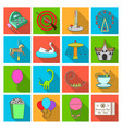 carousel shooting range slides cotton wool and vector image vector image