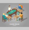casino online poker isometric vector image vector image