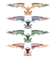 Colourful eagles set design template vector image vector image