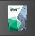 corporate brochure cover template lowpoly 3d vector image