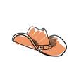 cowboy hat hand drawn icon vector image