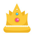 crown with gemstone and decor royal corona sign vector image