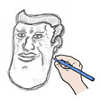 draw face vector image vector image