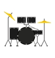 drums set isolated icon design vector image vector image