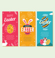 easter vertical banners vector image