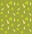 fruits pear seamless patterns vector image vector image