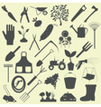 Garden work icon set Working tools