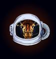 giraffe head in astronaut helmet black bg vector image vector image