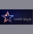 gold star sign with glitter and light effect win vector image