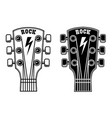 guitar head isolated on white background design vector image vector image
