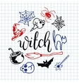 Happy halloween icons set vector image vector image