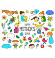 happy mother day colorful clipart mom and vector image vector image