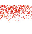 heart background falling red love hearts confetti vector image vector image