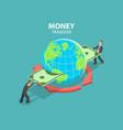 international money transfer isometric flat vector image vector image