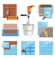 Laying Tiles Icons vector image