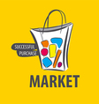 logo painted bag on a yellow background vector image