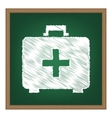 Medical First aid box sign White chalk effect on vector image vector image