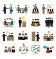 Meeting Icons Set vector image vector image