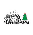 merry christmas lettering card traditional vector image