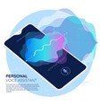mobile app ui personal voice assistant 3d mockup vector image vector image