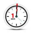 one minute clock icon vector image vector image