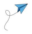 paper plane school creativity idea icon vector image vector image