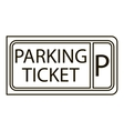 Parking ticket icon outline style vector image vector image