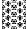 Pattern baroque with heart vector image vector image