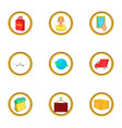 post service icons set cartoon style vector image vector image