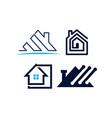 real estate home property design template set vector image