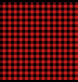 red and black lumberjack seamless pattern vector image