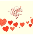 red heart valentines day background vector image vector image