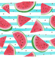 seamless background with watermelon slices on vector image