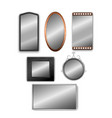 set of realistic 3d mirrors isolated on vector image