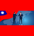 taiwan taiwanese republic china international vector image