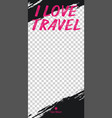 travel stories for instagram pack for creature vector image vector image