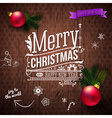 Typographic label for Christmas and New Year Use vector image vector image