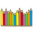 various colors pencils vector image
