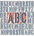 vintage letterpress printing blocks set vector image vector image
