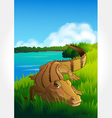 Wild animal set 29 of 32 - crocodile vector | Price: 1 Credit (USD $1)