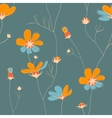 Wild chamomile seamless pattern vector image vector image