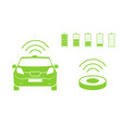 wireless car charging station symbol electric car vector image vector image