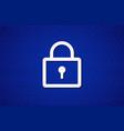 with lock symbol on blue zero unit vector image