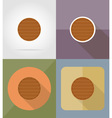 wooden board flat icons 13 vector image vector image